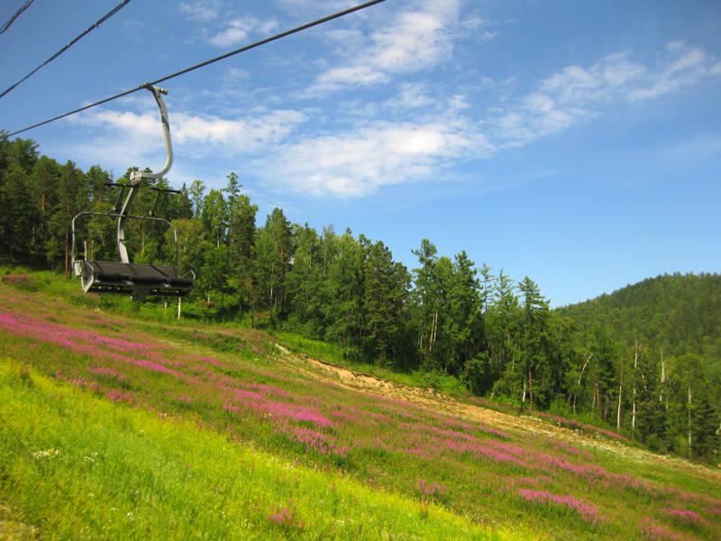 Ski lift - Tourism on Lake Baikal
