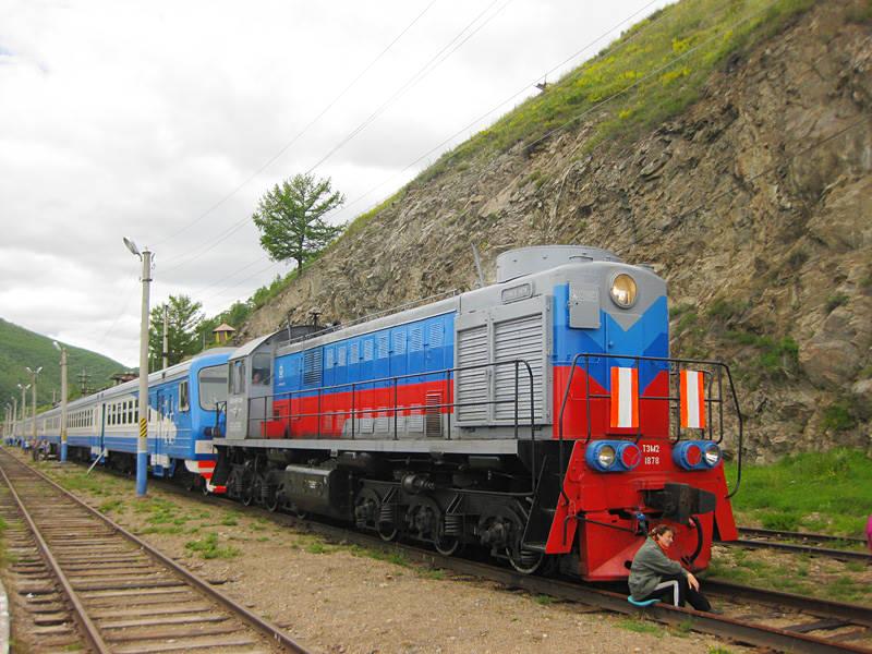 Train on the Circum-Baikal Railway - Tourism on Lake Baikal