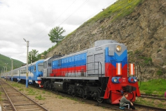 Train on the Circum-Baikal Railway - Tourism on Lake Baikal