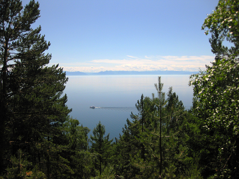 View from the cable car - Rest on Lake Baikal